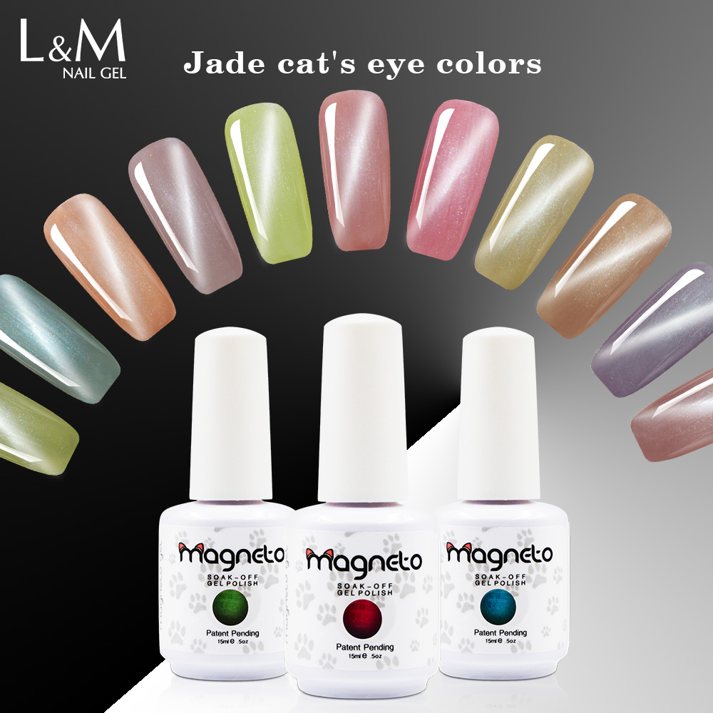 3 boce Lvmay Brand Jade Magnetno-gel lak za nokte Shinning UV Color Ag Supply Soak Off Glazbenim Gelpolish