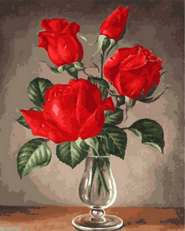 Бескаркасная maslačna slikanje po brojevima paint by number for home decor oil picture painting 5065 red rose