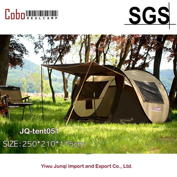 Fastcamp Super Big 4-5persons-Instant Popup tent with Door Pole One touch pop up ribolov camping outdoor Family Tent