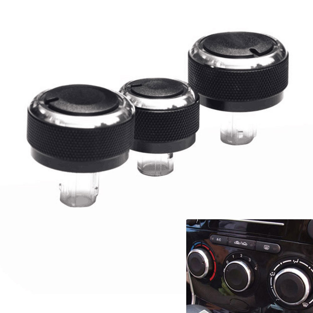 BBQ@FUKA 3pcs Car A / C Panel Switch Control Knob Replacement Fit For VW Passat B6 Jetta Bora Golf 5 Mk5 Škoda Octavia