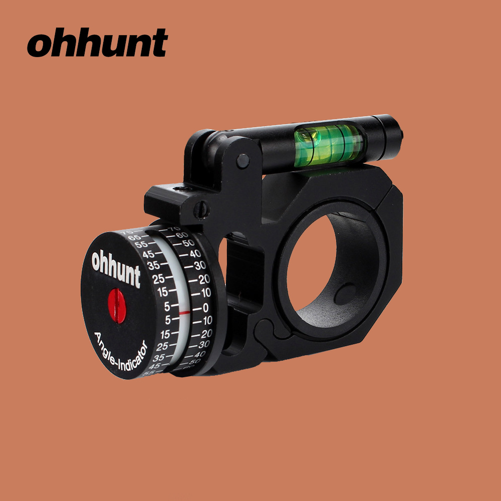 ohhunt Hunting 24.5 / 30 mm Angle Cosine Indicator Kit Bubble and Level fit for Offset Bi-direction 1 inch 30 mm Scope Mount Rings