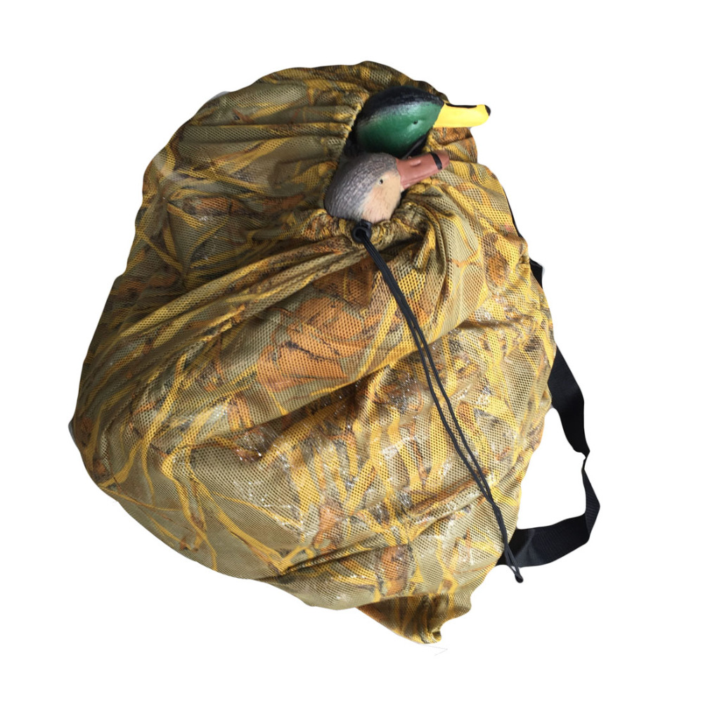 GUGULUZA Duck Decoys Bag With naramenice mrežica ruksak Decoy Bag Pigeon/Dove Carry Large Decoy Storage Net Bag for Hunting