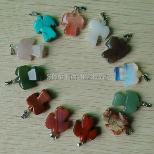 2017 New Fashion Hot Buy natural Stone Mixed Angel charms privjesci za izradu nakita 12 kom./lot Veleprodaja Besplatna dostava