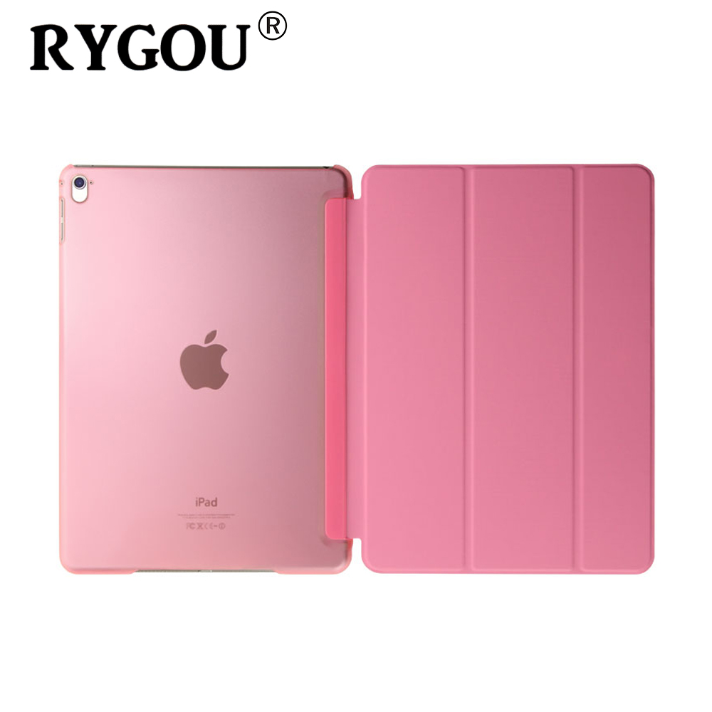 RYGOU For ipad air 2 Case Ultra Slim intelligent protection One-piece Magnetic Pu Smart leather Case Flip Cover For iPad Air2