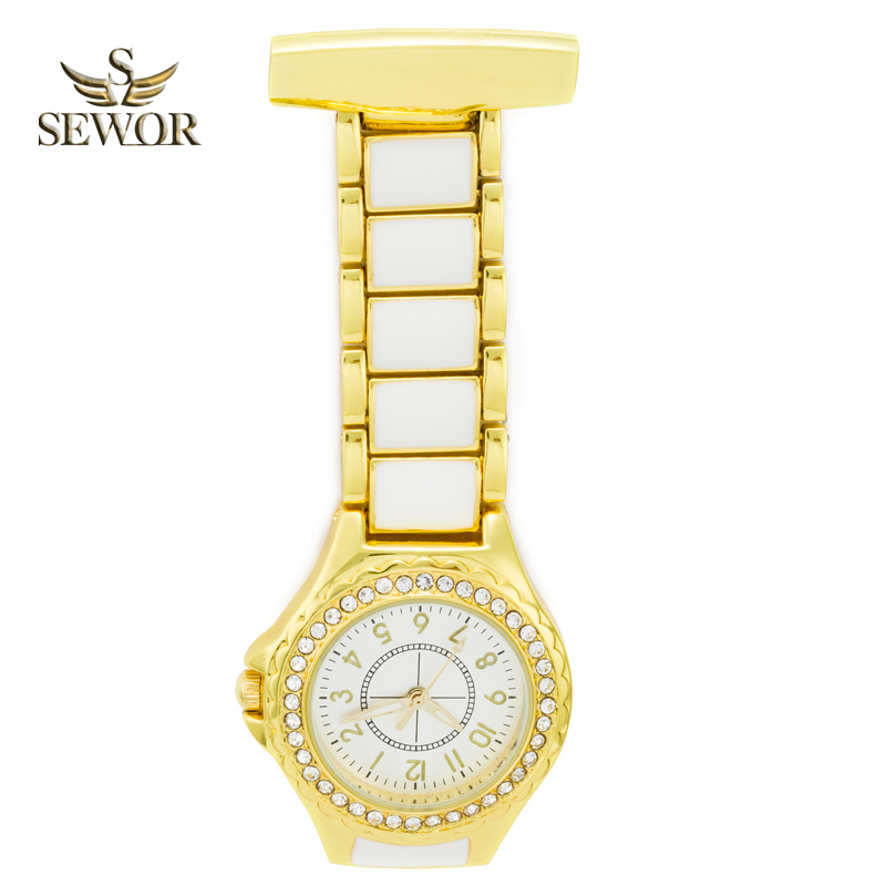SEWOR 2018 Top Brand fashion elegance gold Crystal Pendant Watch top Popularnost džepni sat sestra sat C172