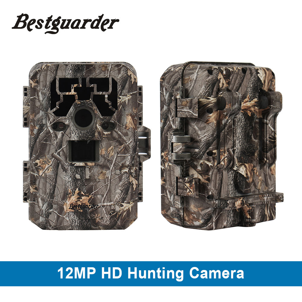 12mp HD 1080P Black IR game hunting scouting camera IP66 super long detection range up to 75ft 2.0 LCD IC Game Hunter Cam