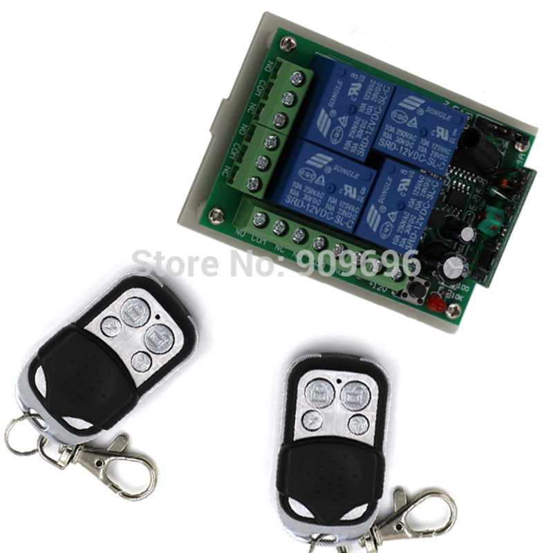 12V, 4CH int RF Wireless Switch Remote Control Switch System odašiljači i prijemnik za Applicance Garage Door RF 433MHZ 315MHZ