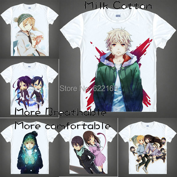2015 Nora Stray God Yato Yukine T Shirt Anime Japanese Famous Animation Novelty Summer men ' S T-shirt Cosplay coolprint shirts