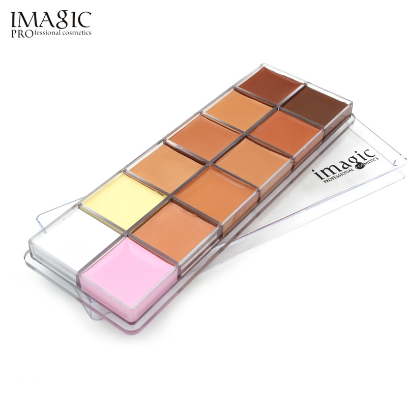 IMAGIC Face Cream Concealer Palette Foundation Contour Cream Šminka Cometic 12Colors Concealer Palette