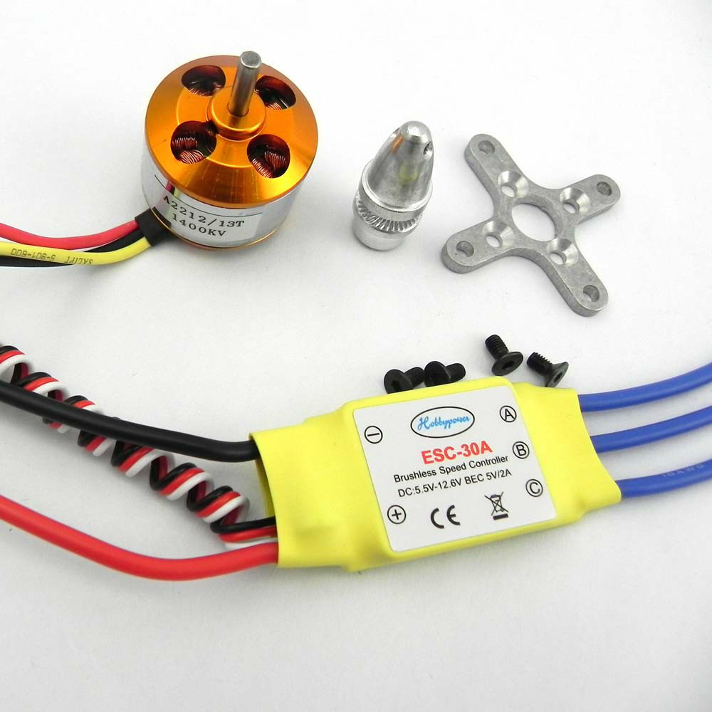 30A brushless kontroler ESC+1400kv brushless motor za 4-aksijalnom мультикоптера