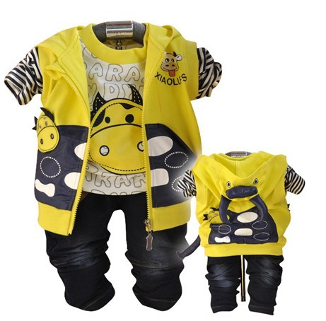 zazor boys cow design kids clothes sets prsluk + +majica hlače 3pcs baby boy odjeca set for spring-autumn kids Odjeca set boy