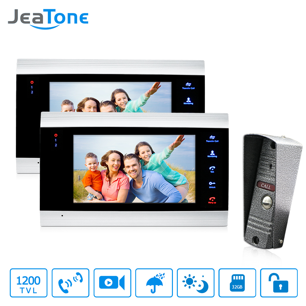 JeaTone 7-Inčni Best Parlafon Systems Residential Commercial Home Security Video Door Phone Kit Door Entry System Free Garancija