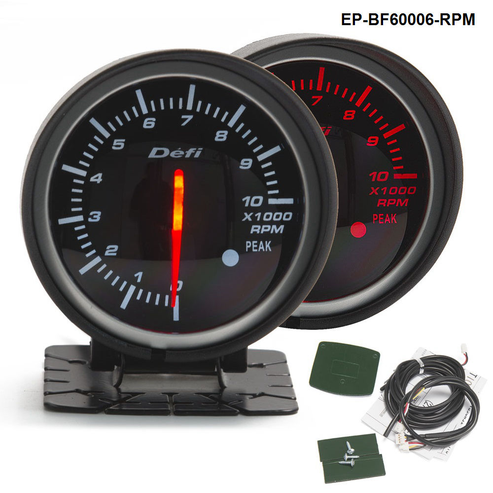 BF 60mm LED Tachometer Gauge High Quality Auto Motor Car Gauge with Red & White Light For BMW f20 1 series EP-BF60006-RPM