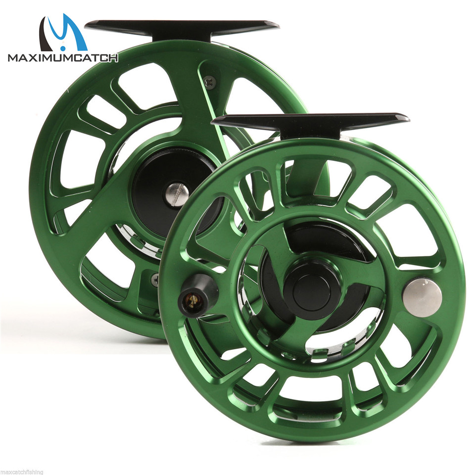 Maximumcatch NZ 3/4/5/6/7 / 8wt Green Fly Rezač CNC Stroj Cut performansi aluminij Fly Fishing Bubnjeva Large Arbor Reel Fishing