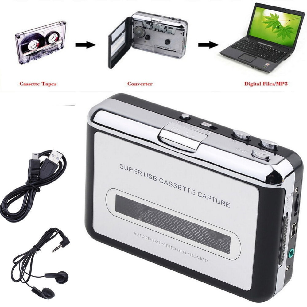 Originalni pravi Ezcap 218 Tape to PC Old Cassette to MP3 Format Converter Audio Recorder Capture Can be Walkman Music Player