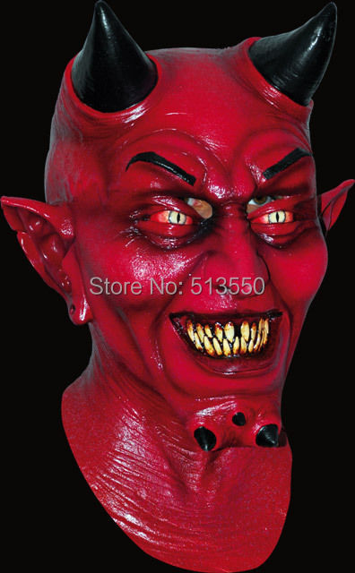 Halloween Horror Productions Uzzath Devil Adult Demon Lateks Maska