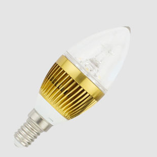 (6 kom./lot) e14 led 3w 220v durable candle light 1w high power 3pcs LED crystal clear bulb warm/cool white led lamp