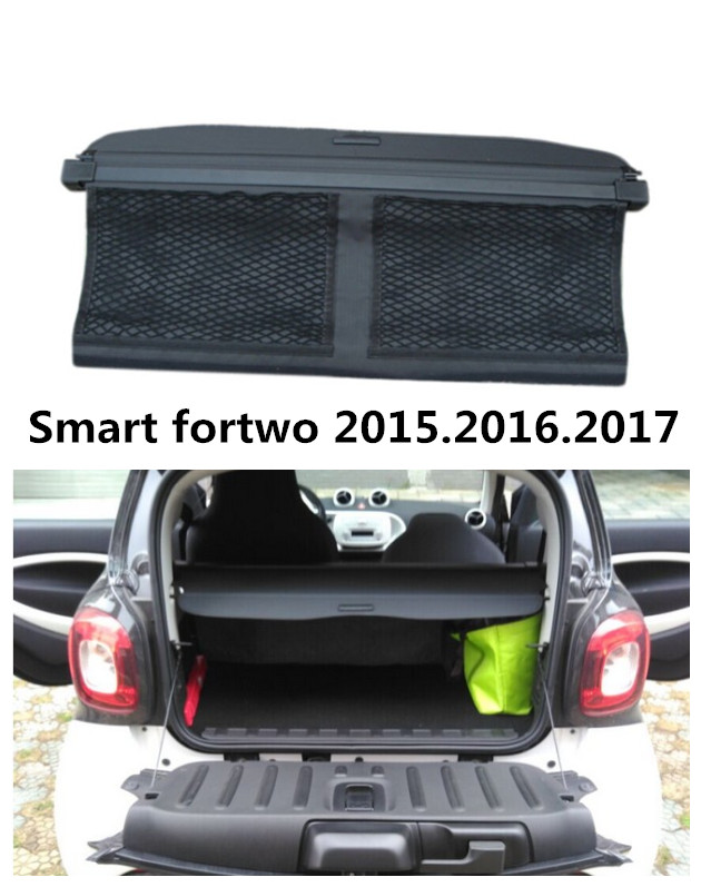 Automobil stražnji nosač zaštitni štit teretni torbica za Smart fortwo 2015..2017 High Qualit Trunk Shade Security Cover