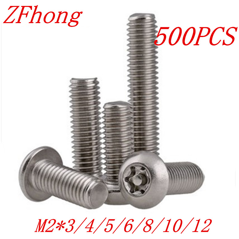 500 kom./lot ISO7380 M2*3/4/5/6/8/10/12 A2 nehrđajućeg čelika Torx Button Head Nagovarati Proof Security Screw vijke