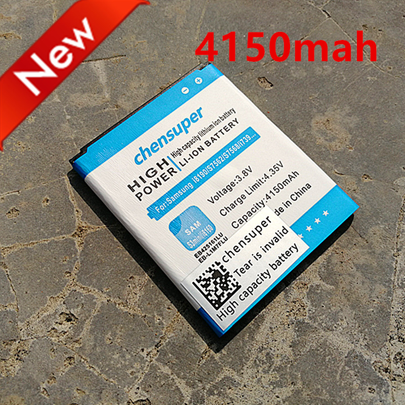 Novi 4150mah EB425161LU za Samsung Galaxy S3 Mini Battery I8160 S7562 I8190 I669 Ace2 S7568 S7566 S7572 I759 S3 Mini