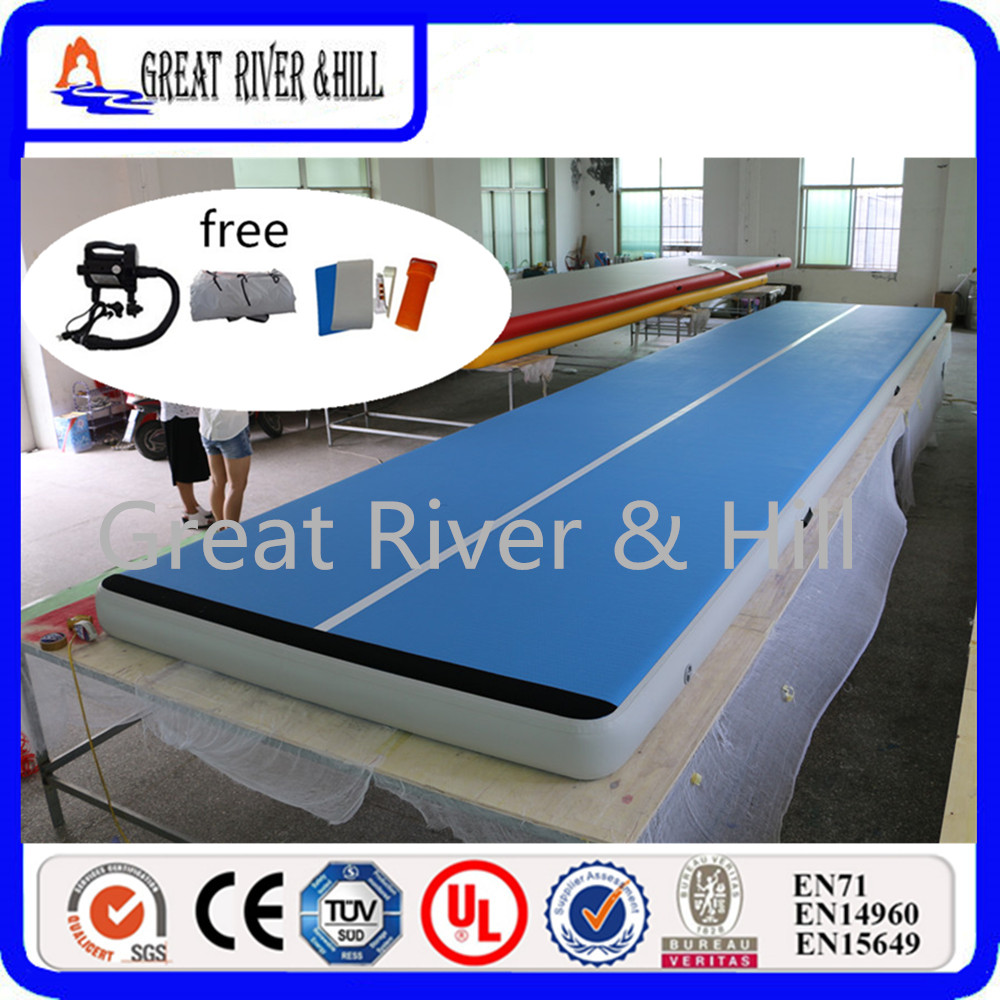 Great river & hill jumping mats air floor highquality with fedex shipping and tax size is 5m x 2m x 0.2 m