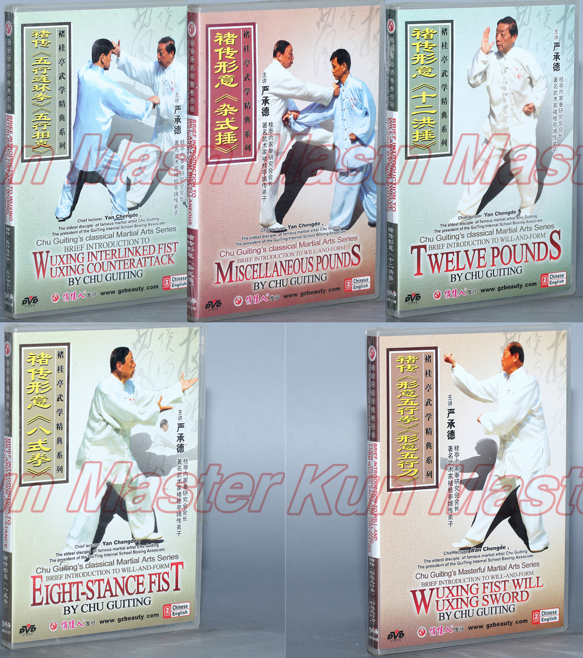 Chu Guiting Classic Martial Arts Series Xingyi Quan Kung Fu Teaching Video engleski titlovi 5 DVD