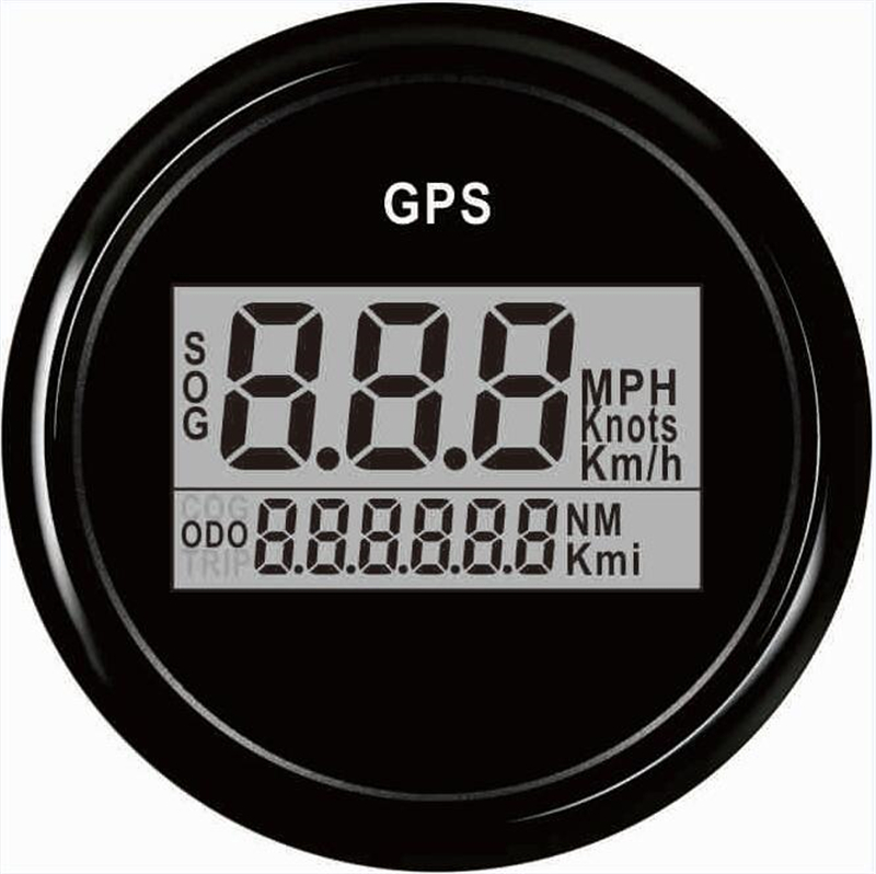 1pc Brand New 52mm GPS Speedometer Automobile Digital GPS Odometers 9-32V for Boat Automobile Antenna with Black and White Color