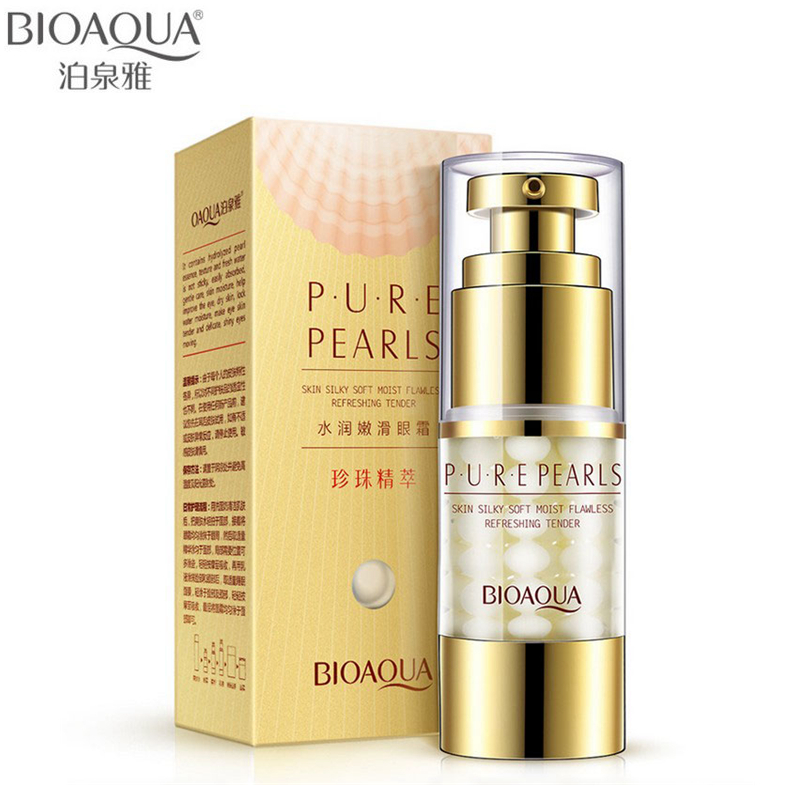 BIOAQUA Pure Pearl Eye Cream Anti Wrinkle Moisturizing Remove Dark Circle Eye Essence Anti Puffiness briga za vaše oči