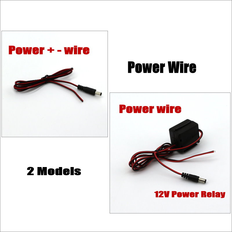 Liislee Power For Wire Car Reverse Backup Rear View Parking Camera / Normal Model or with Power Model Relay