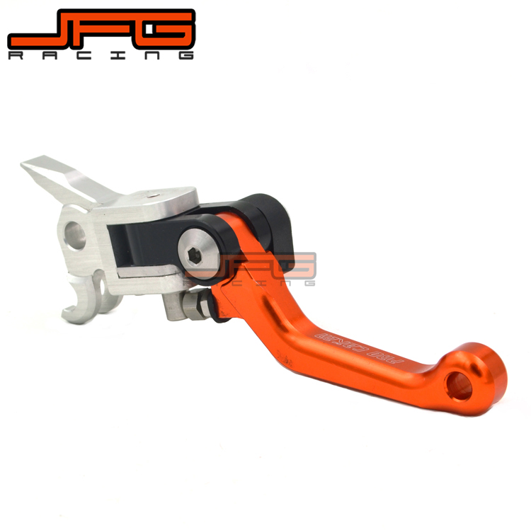 4 Directions Foldable Aluminum Billet Pivot Brake Lever For KTM EXC SXF SX XCW 125 200 250 300 350 450 500 525 530 Dirt Bike