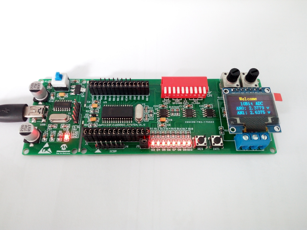 Dspic Development Board Dspic33fj Development Board, Dspic33fj16gs502 Development Board-a, DSP Experimental Board