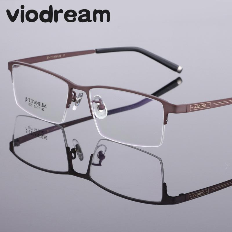 Viodream Fashion Men pure Titanium Eyeglasses Frames muške naočale marke ультралегкая Poslovna okvira za naočale Oculos De Grau 77