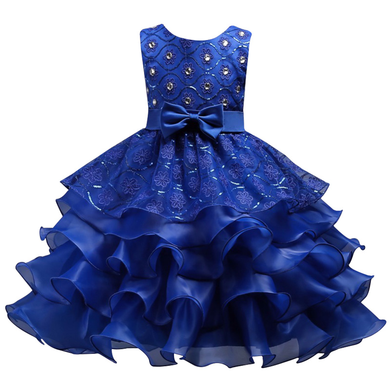 Girls Wedding and Party Dress 2018 Summer Kids Clothes For official Pageant Princess Dresses For Girl Ball Dress Children Clothing