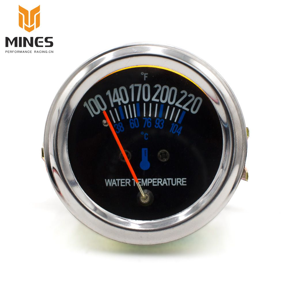 CNSPEED 52mm 2 12V Black Replacement DC Electrical Mechanical car Water Temperature Gauge / Car meter ms101085